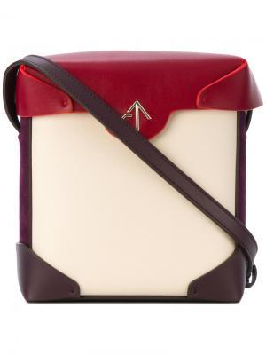 Mini Pristine Combo crossbody bag Manu Atelier. Цвет: многоцветный