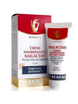 Питательный крем для поврежденных ногтей Нейлактан /Nailactan 15ml Mavala. Цвет: желтый