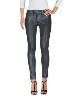 Джинсовые брюки WILDFOX. Цвет: стальной серый