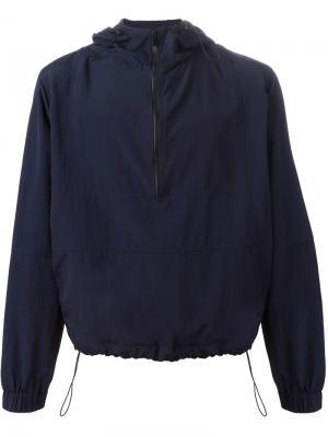Куртка-ветровка с капюшоном Ami Alexandre Mattiussi. Цвет: синий