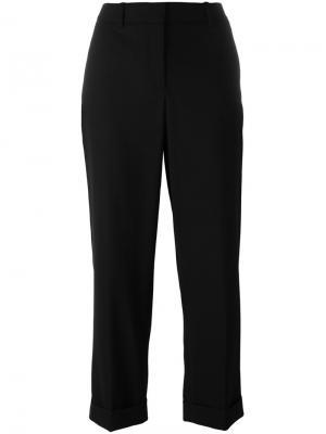 Свободные укороченные брюки Theory. Цвет: чёрный