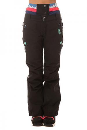 Штаны сноубордические женские  Ticket Black Picture Organic. Цвет: черный