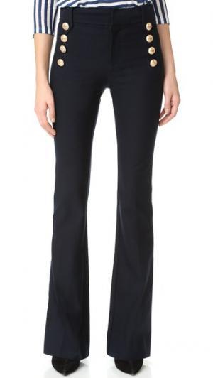 Расклешенные брюки с пуговицами в морском стиле Derek Lam 10 Crosby. Цвет: полночный