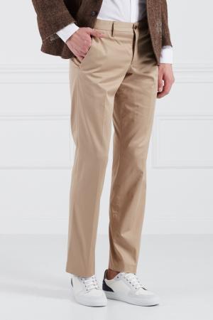 Хлопковые брюки Bruuns Bazaar. Цвет: бежевый