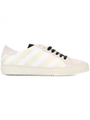 Кеды Brushed Diagonals Off-White. Цвет: белый