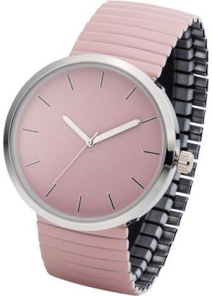 Часы на эластичном браслете (розовый) bonprix. Цвет: розовый