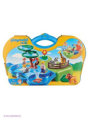 Зоопарк и Аквариум, возьми с собой Playmobil. Цвет: зеленый, синий