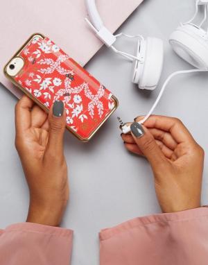 Ted Baker Флип-чехол для iPhone с цветочным принтом. Цвет: красный