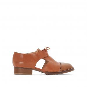 Ботинки-дерби кожаные Anouk JONAK. Цвет: коньячный,черный