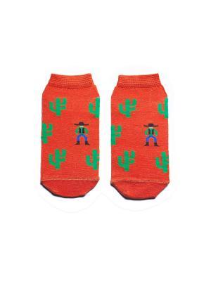 Носки укороченные Big Bang Socks. Цвет: терракотовый