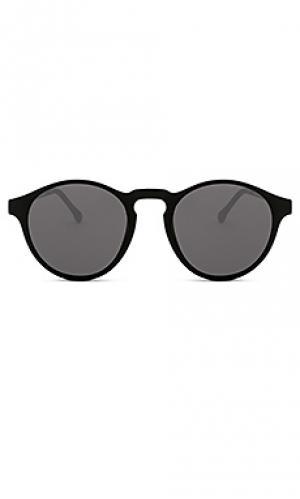 Солнцезащитные очки devon Komono. Цвет: черный