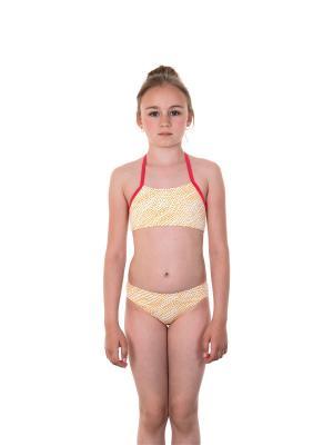 Бикини EMDI. Цвет: желтый, белый, малиновый