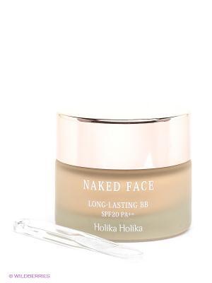 BB крем Naked Face Long-lasting BB, оттенок 21.5, светлый беж, 30 мл Holika. Цвет: светло-бежевый