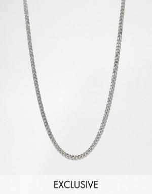 Reclaimed Vintage Ожерелье-цепочка с крупными звеньями 7 мм Inspired. Цвет: серебряный