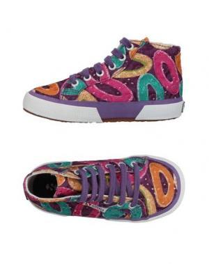 Высокие кеды и кроссовки SUPERGA®. Цвет: фиолетовый
