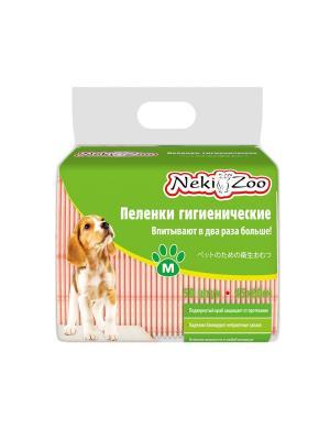 Пеленки для домашних животных NekiZoo M (45х60), 50 шт/упак Maneki. Цвет: белый