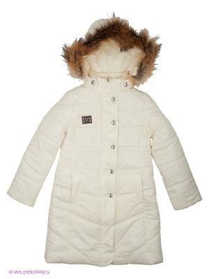 Стеганое пальто Cleverly. Цвет: молочный