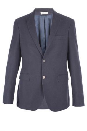 Однобортный пиджак Smalto. Цвет: синий