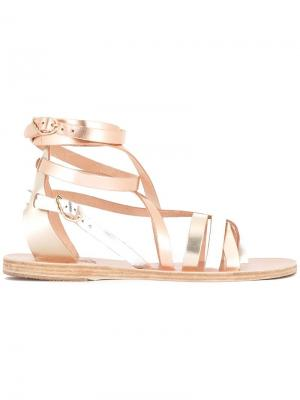 Босоножки с ремешками Ancient Greek Sandals. Цвет: металлический