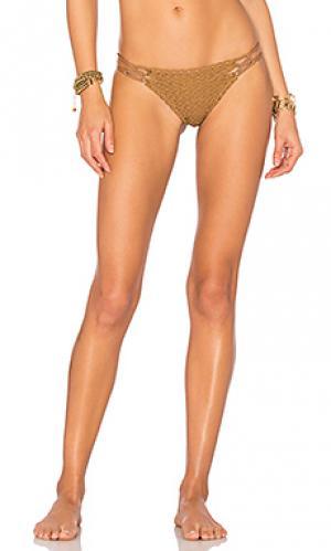 Низ бикини molokini Acacia Swimwear. Цвет: коричневый