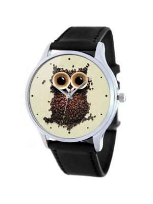 Дизайнерские часы Сова Tina Bolotina. Цвет: черный, коричневый, светло-коричневый