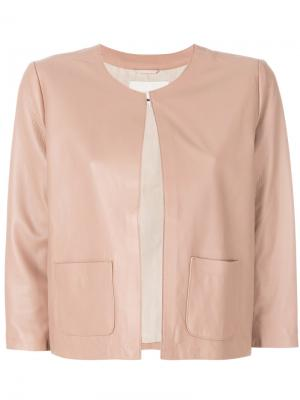 Укороченная кожаная куртка LAutre Chose L'Autre. Цвет: розовый и фиолетовый