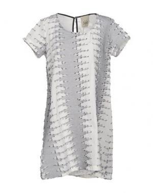 Короткое платье JIJIL. Цвет: слоновая кость
