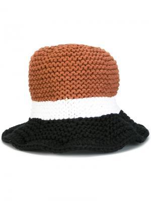 Вязаная шляпа Telfar. Цвет: коричневый