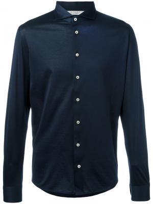 Классическая рубашка La Fileria For Daniello D'aniello. Цвет: синий