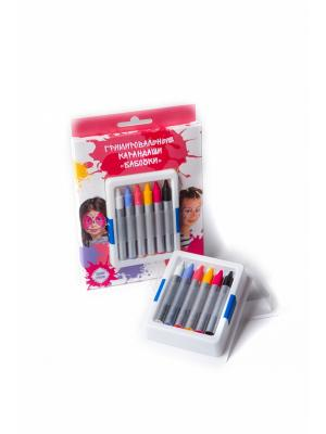 Карандаши гримировальные цветные ФТК. Цвет: серо-голубой, розовый, фуксия