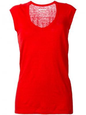 Футболка с рукавами-кап Isabel Marant Étoile. Цвет: красный