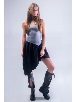 Платье CURLYHOUSE. Цвет: серый, черный