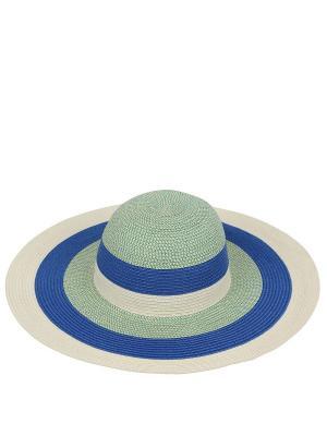 Шляпа Fabretti. Цвет: салатовый,голубой