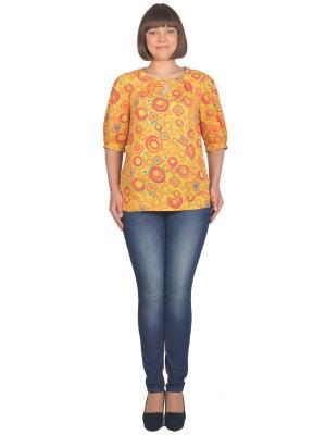 Блузка Томилочка Мода ТМ. Цвет: желтый