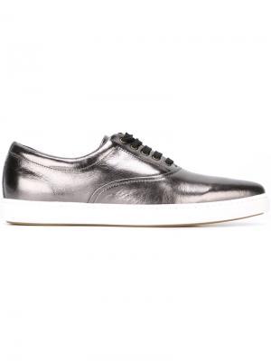 Кеды на шнуровке Tomas Maier. Цвет: серый