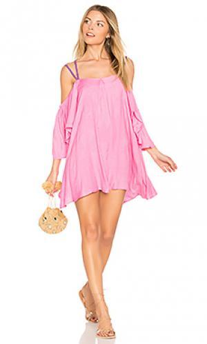 Платье summer night Pitusa. Цвет: розовый