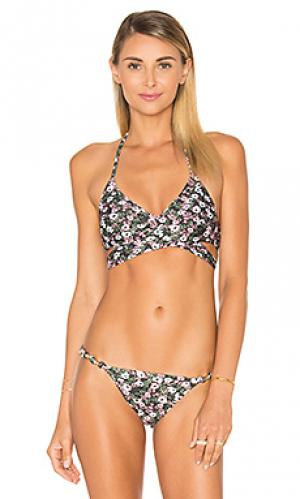 Топик бикини с запахом Vix Swimwear. Цвет: черный