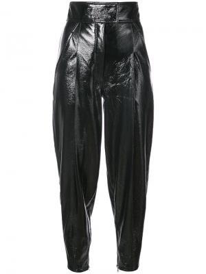 Patent tapered trousers Wanda Nylon. Цвет: чёрный