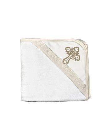 Крестильное полотенце с уголком (90*90) NewBorn. Цвет: молочный