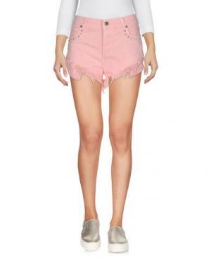 Джинсовые шорты GAëLLE Paris. Цвет: розовый