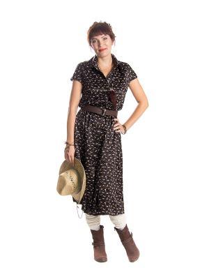 Платье Lautus. Цвет: черный, коричневый, желтый