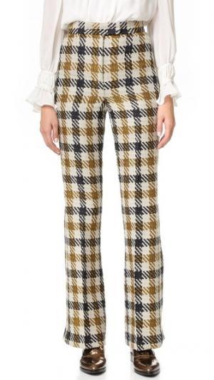 Расклешенные брюки Margot с разрезами внизу Whistles. Цвет: мульти