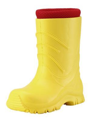 Резиновые сапоги Reima. Цвет: желтый