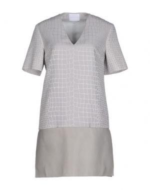 Короткое платье RICHARD NICOLL. Цвет: серый