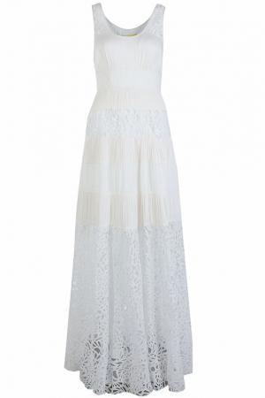 Блистательное платье в пол Catherine Malandrino. Цвет: белый