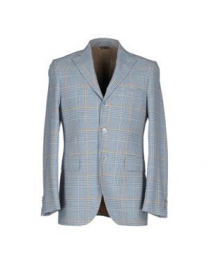 Пиджак SARTORE. Цвет: лазурный