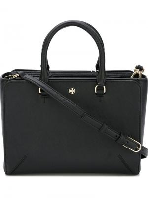 Маленькая сумка-тоут Tory Burch. Цвет: чёрный