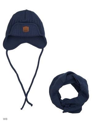 Шапка и шарф Agbo. Цвет: лазурный