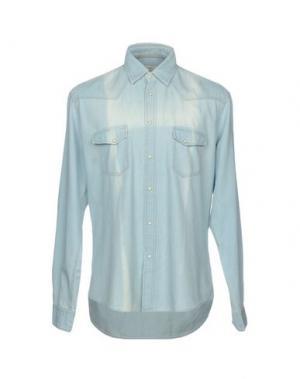 Джинсовая рубашка SIVIGLIA. Цвет: синий