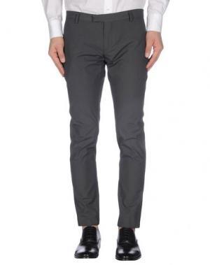 Повседневные брюки DAVID NAMAN. Цвет: свинцово-серый